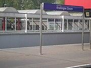 Kunstwerk op metrostation Kralingse Zoom.