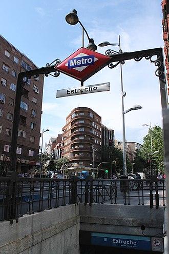 Estrecho (Madrid Metro) - Image: Metro de Madrid Estrecho 01