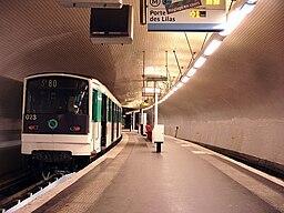Metro de Paris - Ligne 3 bis - Gambetta 02