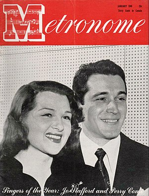 The Chesterfield Supper Club - Perry Como and Jo Stafford pictured on the cover of Metronome (January 1946)