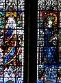 Metz - Cathédrale Saint-Étienne - Registre médian de Théobald de Lixheim - 2 saintes.jpg