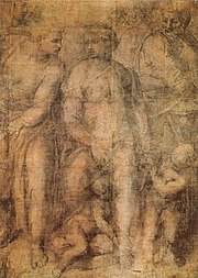 The British Museum, Room 90 - Michelangelo, Epifania - Last surviving large scale cartoon by the artist