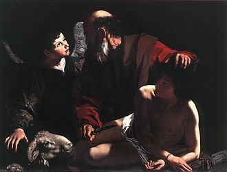 1598 in art - Image: Michelangelo Merisi da Caravaggio The Sacrifice of Isaac WGA04202