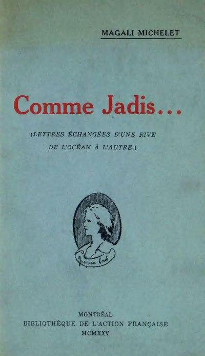 c353b65e645 Comme jadis - Wikisource