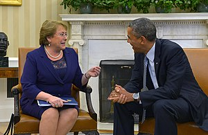 Foreign relations of Chile - Bachelet with U.S. President Barack Obama, 30 June 2014