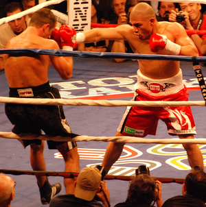 Miguel Cotto vs. Antonio Margarito - Miguel Cotto (right) against Oktay Urkal on March 3, 2007