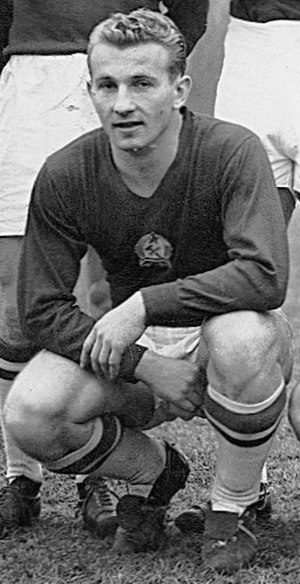 Mihály Lantos - Lantos playing for Hungary in 1953