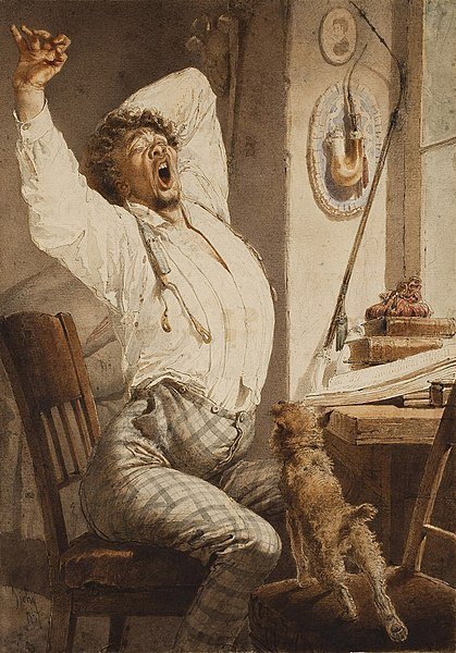 File:Mihály Zichy. Reading. Young man (Morning). 1867, Pushkin museum.jpg