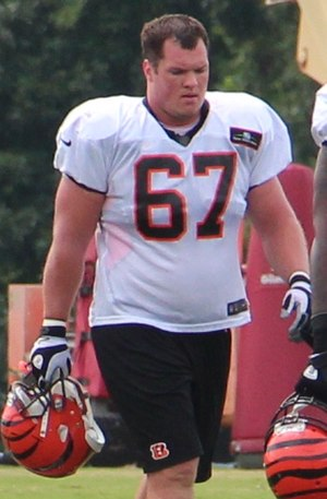 Mike Pollak - Pollak at Bengals training camp in 2013.