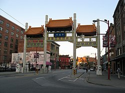 Millennium Gate on Pender Street in Chinatown