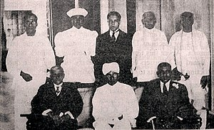 Waithilingam Duraiswamy - Sir Duraiswamy (Seated middle) as the Speaker of the Second State Council of Ceylon in 1936.