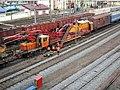 Minsk-Sortirovochny and repair train.jpg