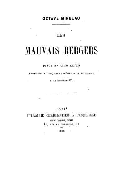 File:Mirbeau - Les Mauvais Bergers.djvu