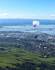 Paraglider from Mission Peak, CA.