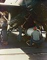 Mk 13 torpedo is loaded on TBM aboard USS Bennington (CV-20) in 1945.jpg