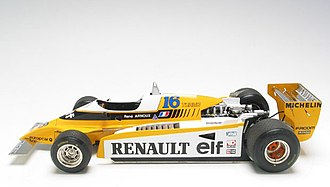 Renault RE20 - Image: Model Réduit arnoux RE20