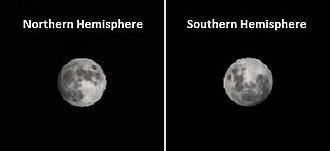 Man in the Moon - Image: Modeled moon appearance for same longitude 30 minutes after moonrise