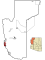 Mohave County Incorporated and Unincorporated areas Mohave Valley highlighted.svg