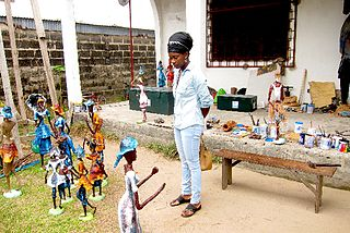 Rhode Makoumbou Congolese painter