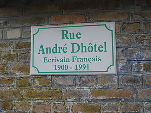 André Dhôtel - Rue André Dhôtel in Mont-de-Jeux