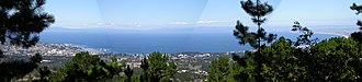 Monterey Bay - Panorama of Monterey Bay from Jacks Peak Park