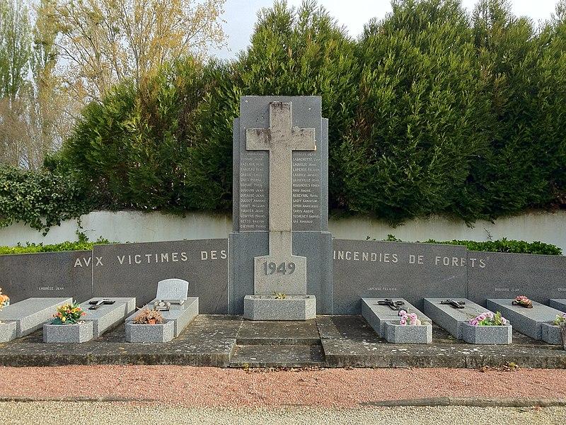 Monument aux victimes de Canéjan mortes dans l'incendie de 1949