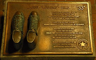 Larry Bird - A Larry Bird plaque at Quincy Market, Boston