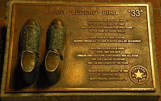 Larry Bird - A Larry Bird plaque at Quincy Market, Boston