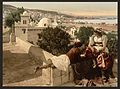 Moorish woman and child on the terrace, I, Algiers, Algeria-LCCN2001697833.jpg
