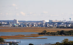 Skyline of Morehead City, North Carolina