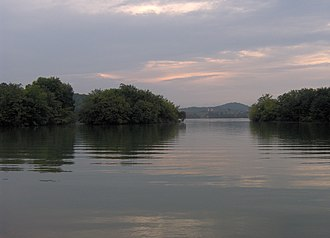 Morganton, Tennessee - The former site of Morganton, now under Tellico Lake.