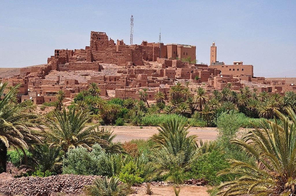 Kasbah Tifoultoute, 8 km west of Ouarzazate, southern Morocco.