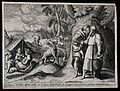 Moses' people are protected from the fires that God inflicts Wellcome V0034266.jpg