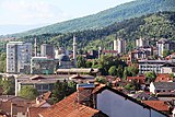 Mosques and clock tower center of bitola seen from east to west.jpg
