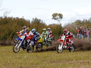Start of a Motocross race