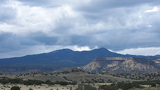 Mount Taylor (New Mexico) - A southwest view of Mount Taylor, as seen from the village of Encinal, NM.