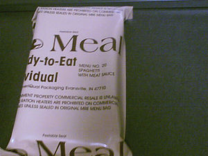 United States military ration - Modern combat ration: Meal, Ready-to-Eat