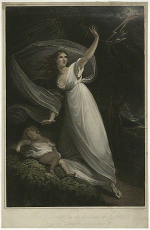 William Bond (engraver) - Image: Mrs Young in the character of Cora from the tragedy of Pizarro by William Armfield Hobday, after William Bond