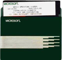 Microsoft Xenix 1.00 on 5¼-inch floppy disk