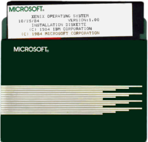 Xenix - IBM/Microsoft Xenix 1.00 on 5¼-inch floppy disk