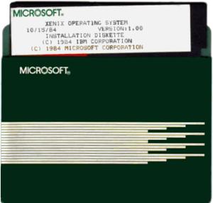 Xenix - IBM/Microsoft Xenix 1.00 on 5¼-inch floppy disk