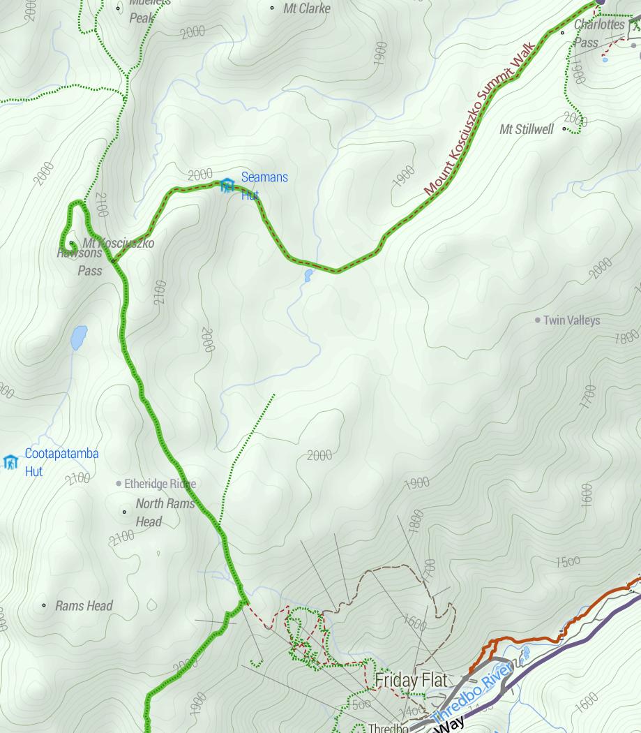 Mt Kosciuszko map Stevage