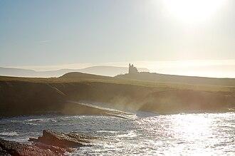 County Sligo - The Sligo coastline at Mullaghmore, with Classiebawn Castle in the distance