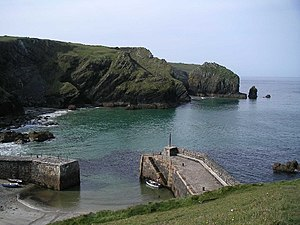 Mullion, Cornwall - The harbour at Mullion Cove
