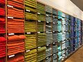 Multicoloured bath towels, John Lewis, Reading, UK - 20150711-02.jpg