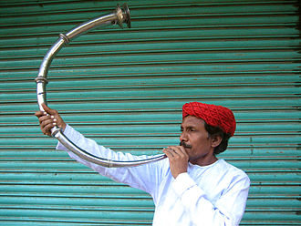 History of primitive, ancient Western and non-Western trumpets - Shringa- an Indian trumpet