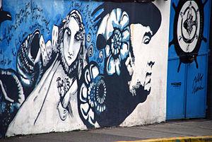 Mural del poeta chileno Pablo Neruda.