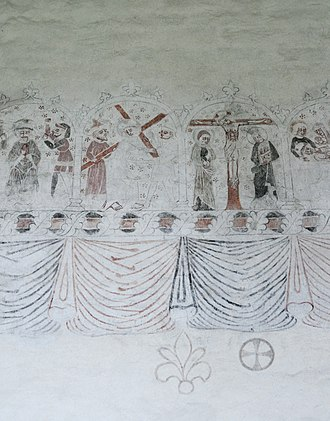 Ala Church - Image: Muralmåleri Ala kyrka
