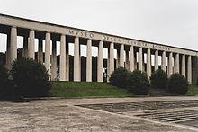 Il colonnato del museo della civiltà romana