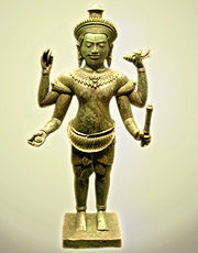 A 13th century Cambodian statue of Vishnu